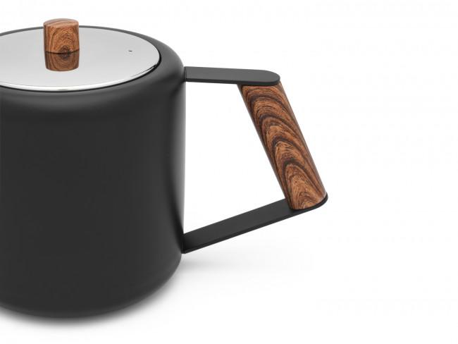 Théière Duet Design Boston 1,1L noir mat