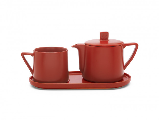 Tea-for-one set Lund rouge