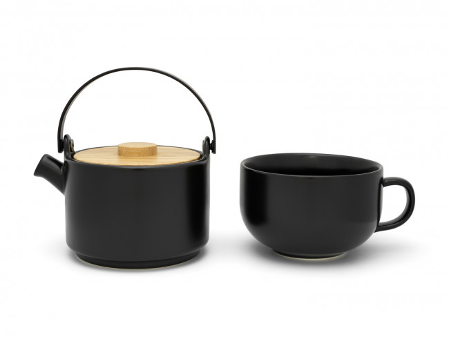 Tea for one Umea noir avec couvercle