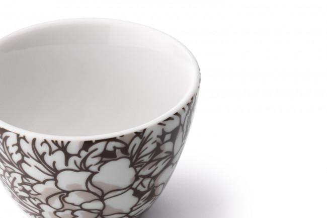Yantai tasse à thé, set de 2, noir/brun