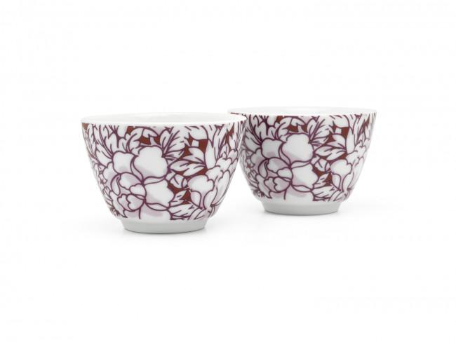Yantai tasse à thé, set de 2, rouge