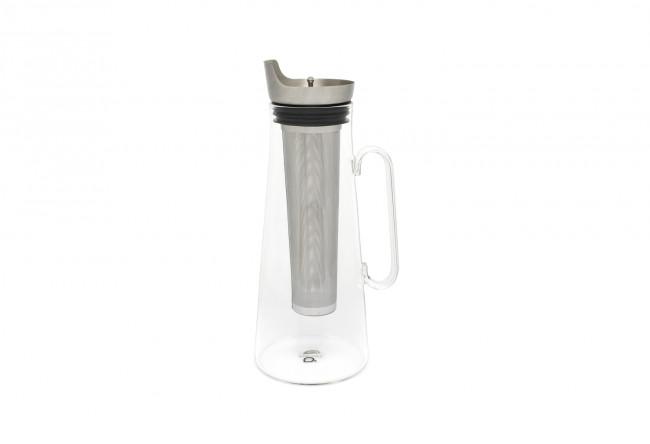 Carafe à thé glacé 1,2L + filtre en inox