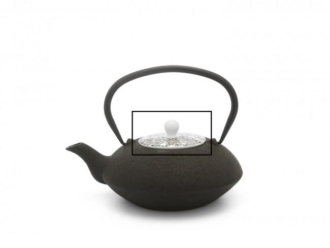 Couvercle pour théière Yantai 157001 noir/brun