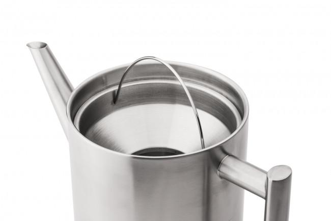 Théière Minuet Cylindre 1,2L métal satiné