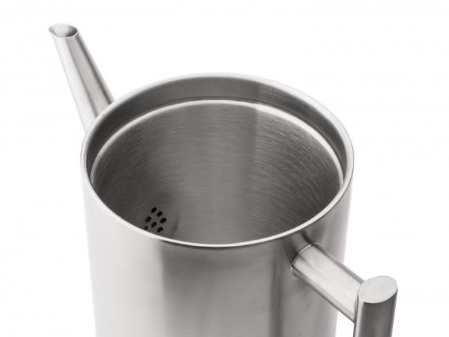 Théière Minuet Cylindre Satin Métal 1.2 liter