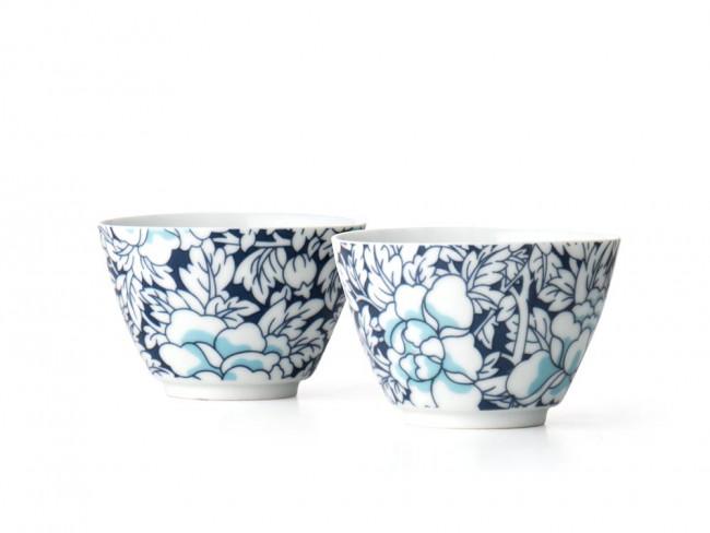 Yantai tasse à thé, blue fonçé, set de 2