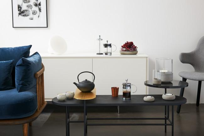 Set cadeau Shanxi, noir, avec 2 tasses en porcelaine