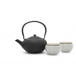 Set cadeau Shanxi, noir, avec 2 tasses