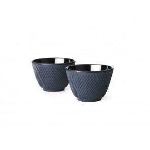 Tasses Xilin fonte bleu s/2