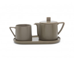 Tea-for-one set Lund gris chaud