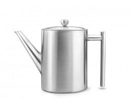 Théière Minuet® Cylindre Satin Métal 1.2 liter