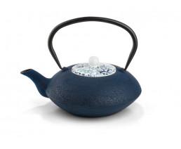 Théiere Yantai blue fonçé, couvercle en porcelaine, 1.2L