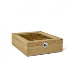 Boite à thé 9 compartiments Bambou